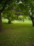 Jardín público en la ciudad de Toulouse, Francia foto de archivo