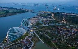 Jardín por la bahía, Singapur. Imagen de archivo libre de regalías