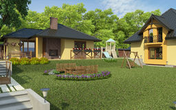 Jardín posterior libre illustration