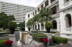 Jardín que construye a Hong Kong Imagen de archivo libre de regalías