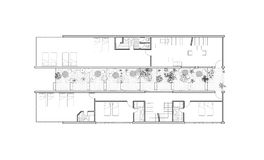 Jardín que lleva a un edificio residencial ilustración del vector