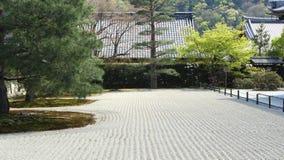 Jardín rastrillado del zen Imagen de archivo
