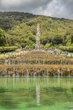 Jardín real del palacio de Caserta, Campania de Italia imagen de archivo