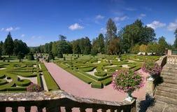Jardín regular francés clásico Foto de archivo