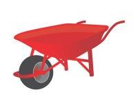 Jardín rojo del carro Foto de archivo libre de regalías