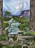 Jardín secreto stock de ilustración