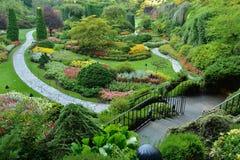 Jardín Sunken Imágenes de archivo libres de regalías