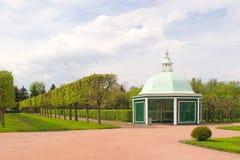 Jardín superior. Peterhof Fotos de archivo