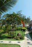 Jardín tropical en Tailandia Foto de archivo