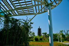 Jardín verde de la expo en Zhengzhou Imágenes de archivo libres de regalías