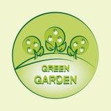 Jardín verde LOGOTIPO emblema label stock de ilustración
