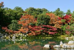 Jardín y charca japoneses imágenes de archivo libres de regalías