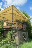 Jardín y cubierta del verano Imagen de archivo