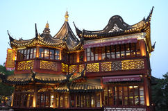 Jardín yuyuan de Shangai China Foto de archivo
