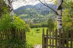 Jarda da casa carpathians Fotografia de Stock