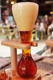 Jarda da cerveja de Bélgica fotografia de stock