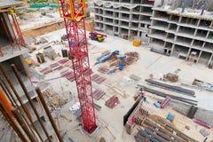 Jarda da construção Foto de Stock