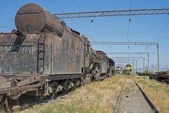 Jarda da sepultura da locomotiva de vapor Fotos de Stock Royalty Free
