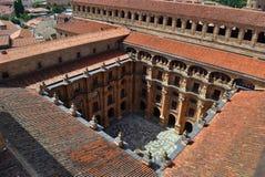 Jarda da universidade pontifical de Salamanca foto de stock royalty free