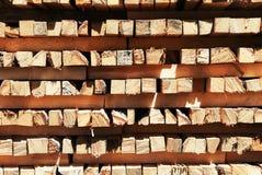 Jarda de madeira serrada Fotos de Stock Royalty Free