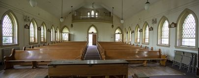 Jarda de prisão interior abandonada da igreja Foto de Stock Royalty Free