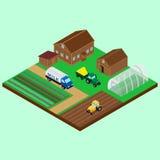 A jarda de uma exploração agrícola Foto de Stock