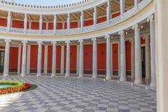 Jarda de Zappeion Salão, Atenas, Grécia fotografia de stock