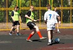 Jarda do futebol da juventude Fotografia de Stock Royalty Free