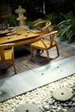 Jarda do japonês do restaurante do jardim Imagem de Stock Royalty Free