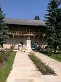 Jarda do monastério de Putna Fotografia de Stock