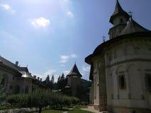 Jarda do monastério de Putna Foto de Stock