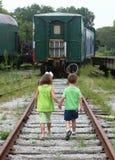 Jarda do trem Imagem de Stock Royalty Free