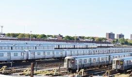 Jarda do trem de Brooklyn do Coney Island de New York City Foto de Stock Royalty Free