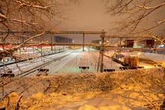 Jarda do trem de Genebra Imagens de Stock Royalty Free