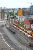 Jarda do trem de Montreal Foto de Stock Royalty Free