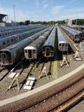 Jarda do trilho, NYC, NY, EUA Imagem de Stock