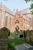 Jarda grave do grande de Sint-Gertrudischurch Imagem de Stock Royalty Free