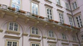 Jarda interior barroco Bulding vídeos de arquivo
