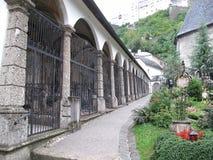 Jarda medieval da igreja Imagens de Stock