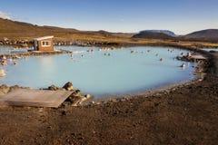 Jardbodin盐水湖-冰岛。 库存照片
