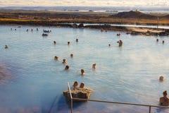 Jardbodin Lagoon - Iceland. Stock Photo