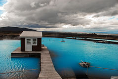 Jardbodin Spa, Iceland. The small local spa on the north of Iceland (Myvatn area Royalty Free Stock Photography