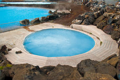 Jardbodin Swimming pool, Iceland. Royalty Free Stock Photos