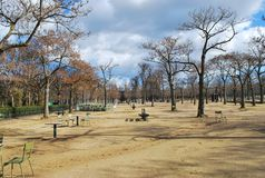 Jarden du luxemburg. Part view of a park in paris, france Royalty Free Stock Photography