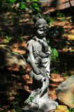 Jardim Art Goddess Girl na floresta fotografia de stock