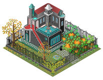 Jardim assustador ilustração stock