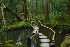 Jardim bonito de Tenhuan em Kyoto Fotografia de Stock Royalty Free