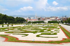 Jardim bonito do palácio do Belvedere, Viena Foto de Stock Royalty Free