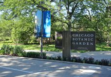 Jardim botânico de Chicago imagem de stock