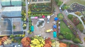 Jardim botânico de Timelapse na opinião aérea do aw do 'de WrocÅ filme